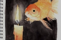 Candle-and-fish
